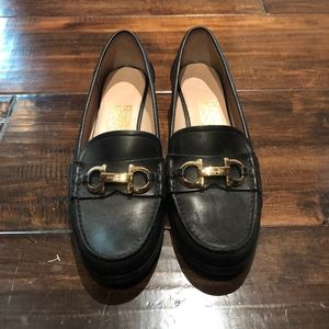 Salvatore Ferragamo Black Penny Loafer Small Heel